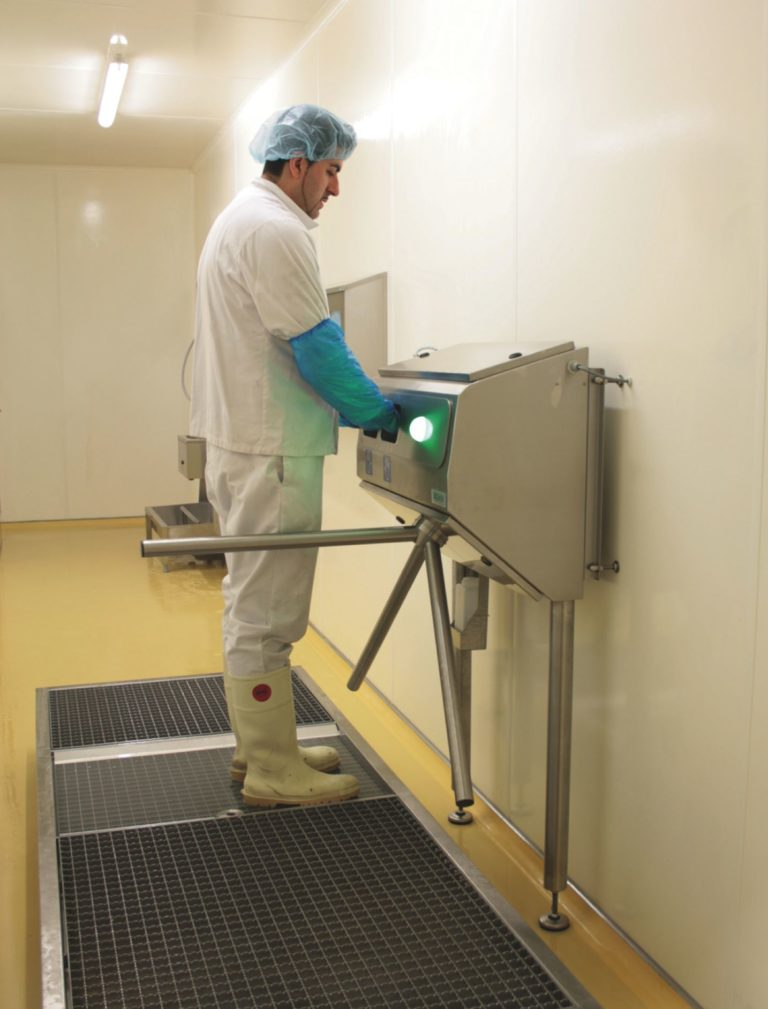 DW disinfection tray with 2 drip zones